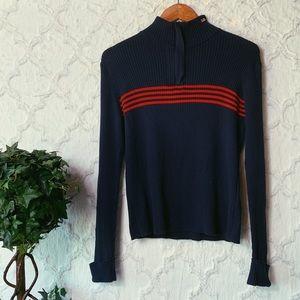 Vintage Polo Jeans Co Striped Quarter Zip